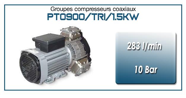 Moto-compresseur tricylindre Oilless type PTO900/TRI/1.5KW